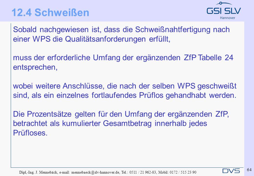 Dipl,-Ing. J. Mennebäck, e-mail: mennebaeck@slv-hannover.de, Tel.: 0511 / 21 962-83, Mobil: 0172 / 515 23 90 64 Sobald nachgewiesen ist, dass die Schw