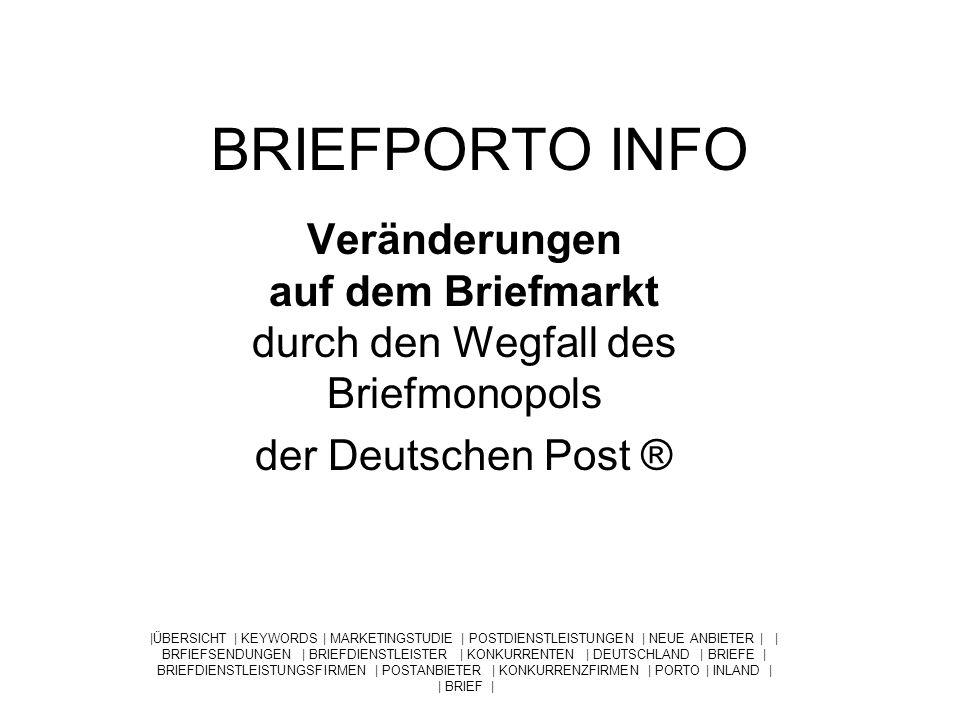 Das Briefmonopol Bis zum Jahr 2008 hat die Deutschen Post ® ein Monopol auf die Zustellung von Briefen bis zu einem Gewicht von 50 Gramm.
