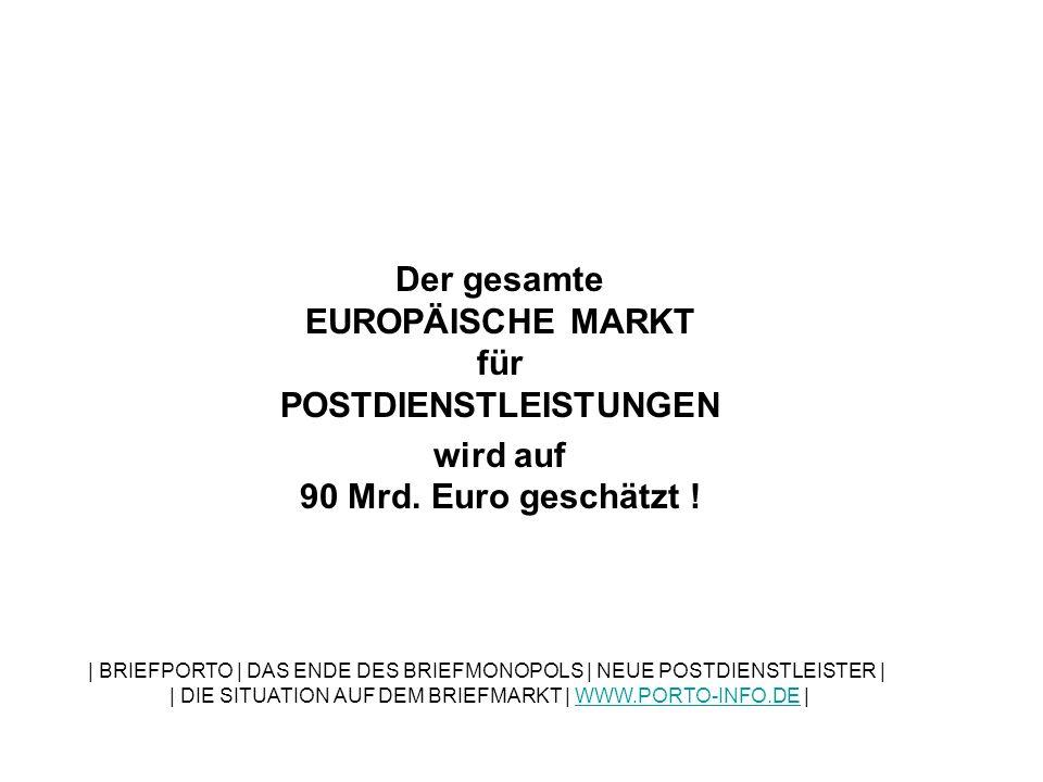 Von diesem gewaltigen Markt entfallen geschätzte 60 Prozent auf das Geschäft mit Briefen.