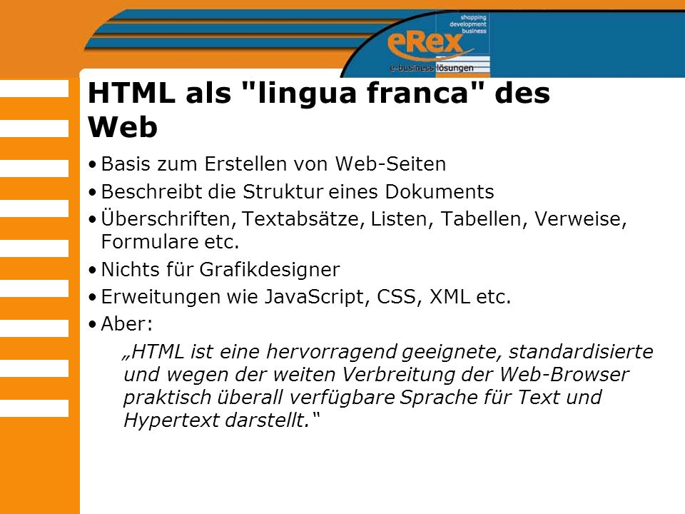 HTML als