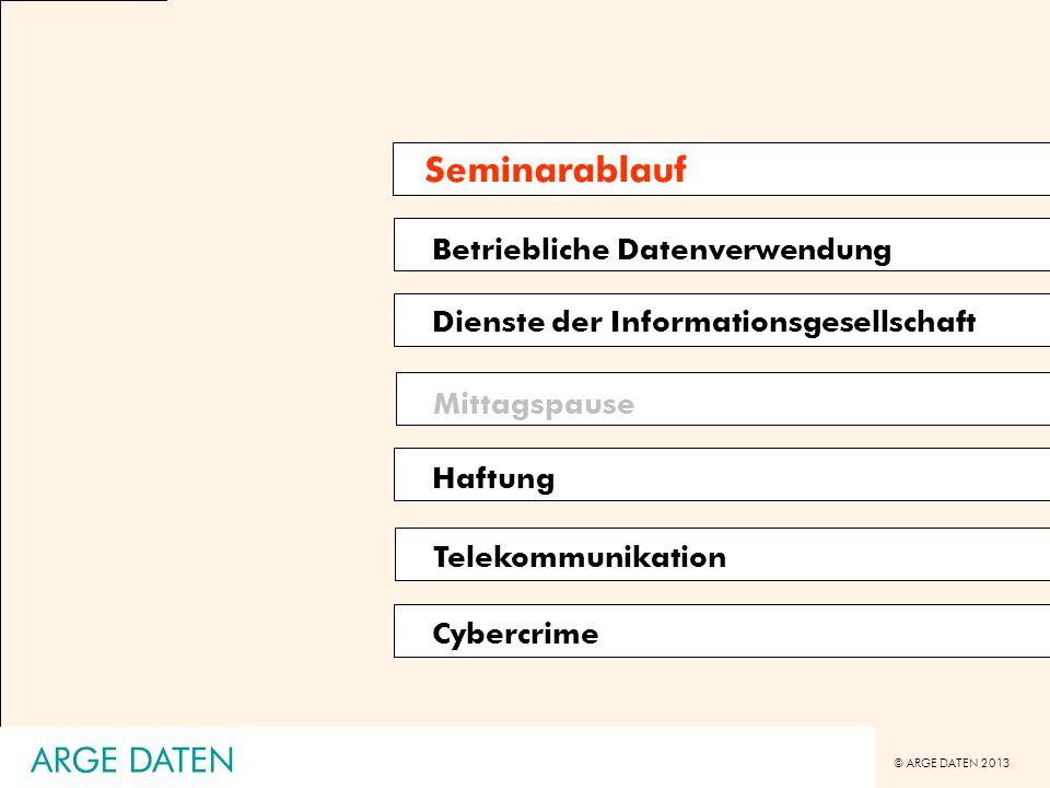 © ARGE DATEN 2013 ARGE DATEN Betriebsvereinbarung [BV] - Übersicht A.