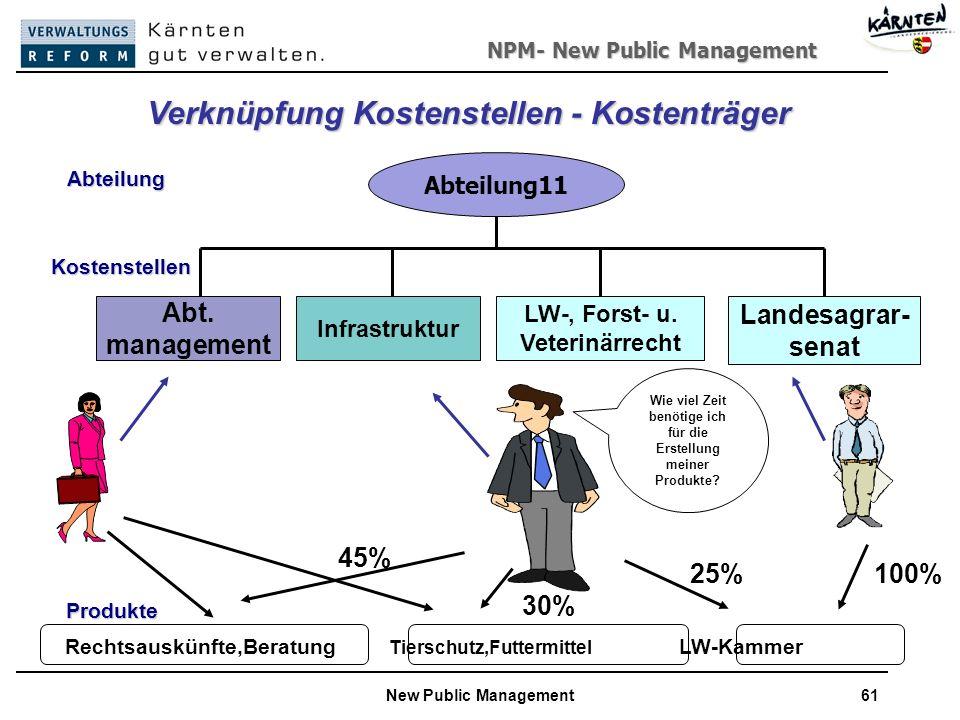 NPM- New Public Management New Public Management61 Abteilung11 Abt.