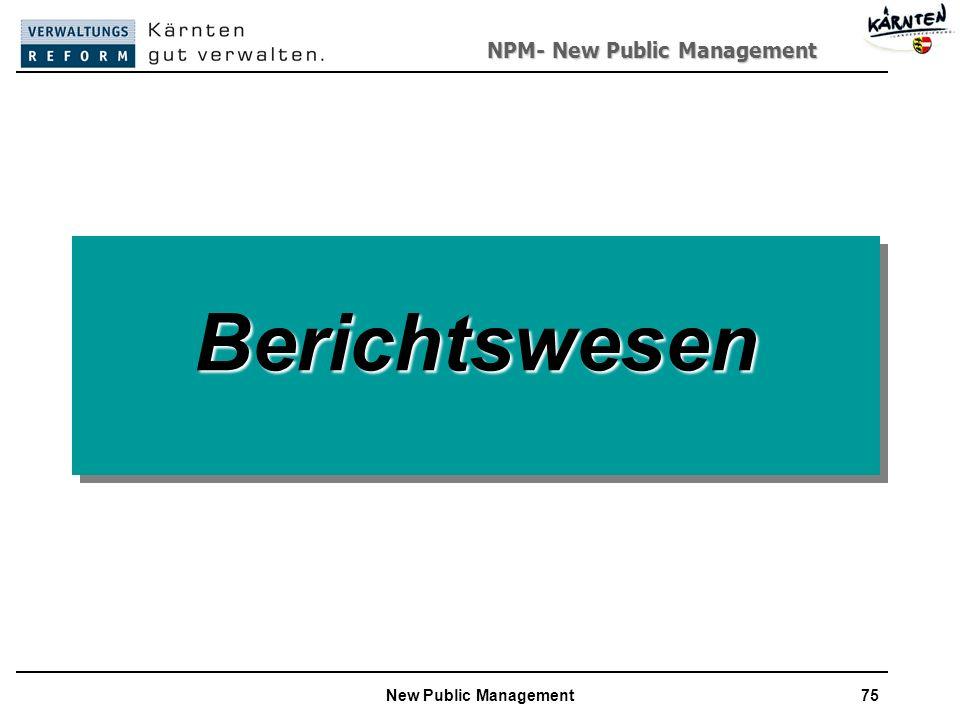 NPM- New Public Management New Public Management75 BerichtswesenBerichtswesen