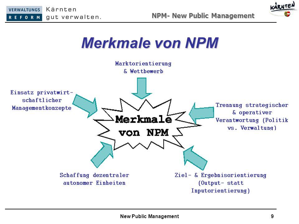 NPM- New Public Management New Public Management9 Merkmale von NPM