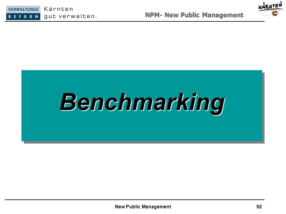 NPM- New Public Management New Public Management92 BenchmarkingBenchmarking
