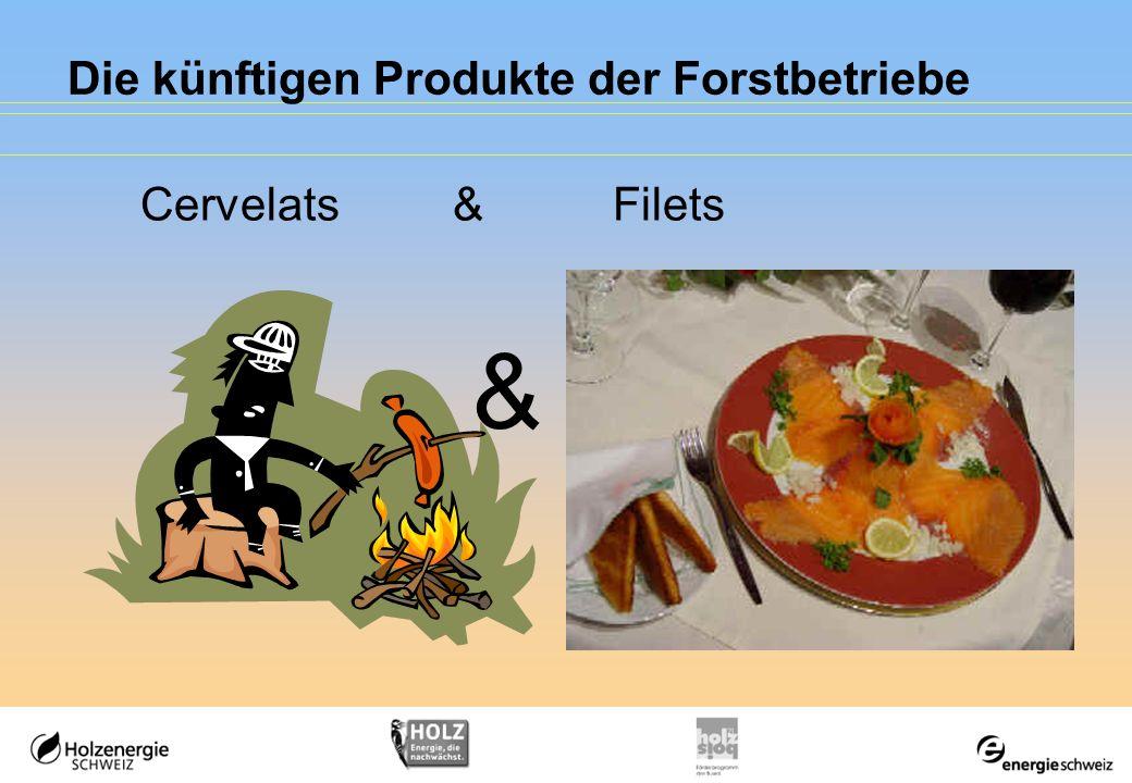 Die künftigen Produkte der Forstbetriebe & Cervelats & Filets