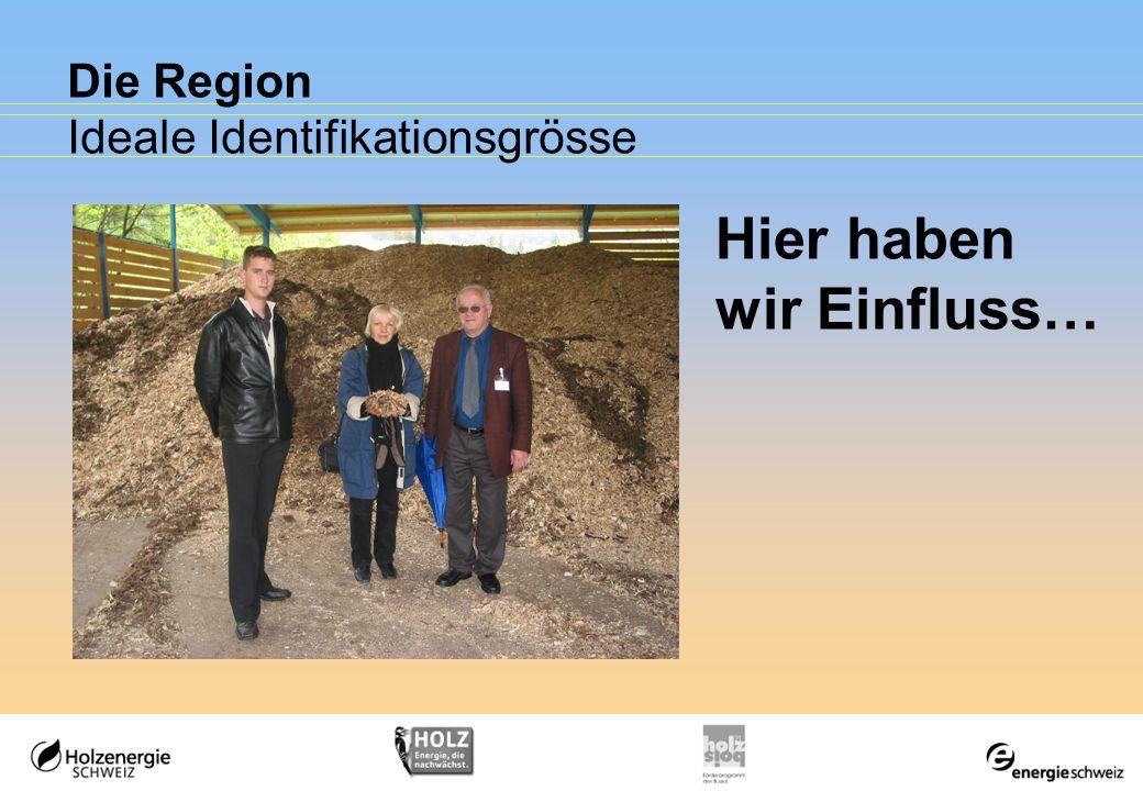 Die Region Ideale Identifikationsgrösse Hier haben wir Einfluss…