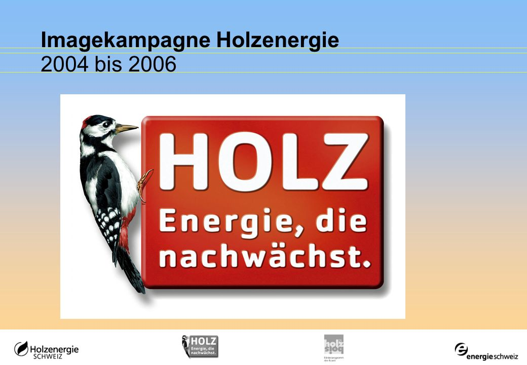 Imagekampagne Holzenergie 2004 bis 2006