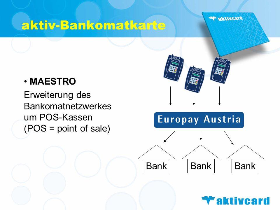 Vorteile Flexibilität (jederzeit Bargeld verfügbar) Unabhängigkeit (an keine Banköffnungszeiten gebunden) bargeldlose Zahlungen Sicherheit (im Vgl.