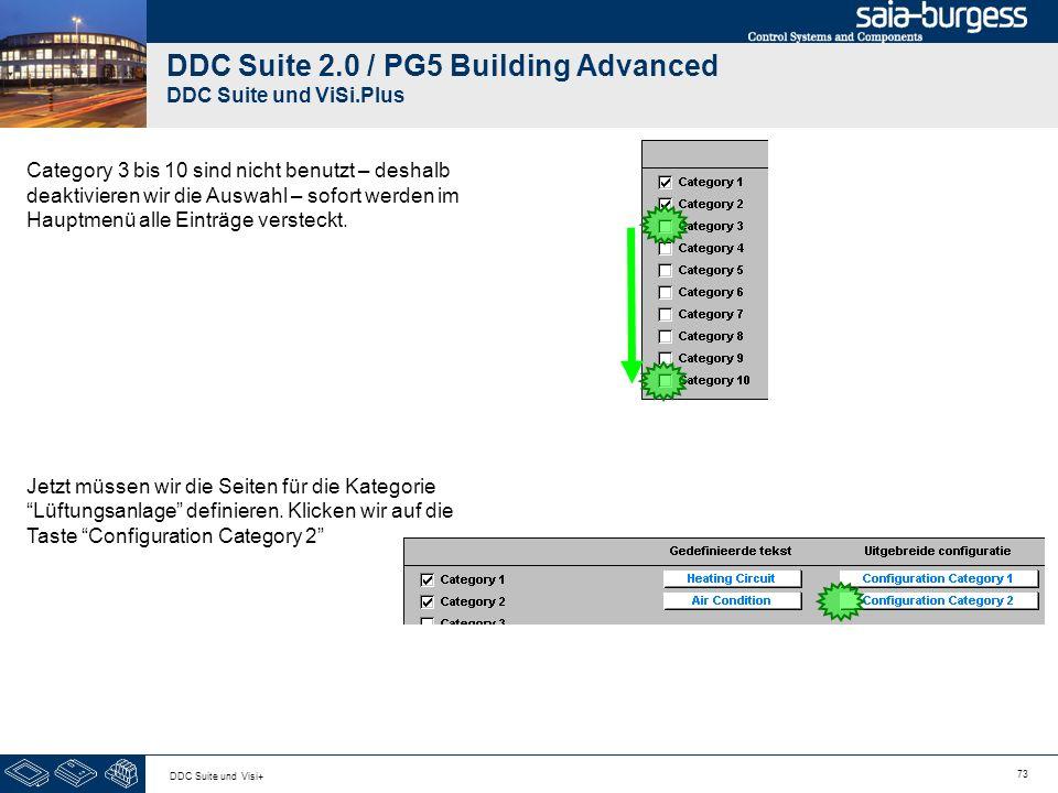 73 DDC Suite und Visi+ DDC Suite 2.0 / PG5 Building Advanced DDC Suite und ViSi.Plus Category 3 bis 10 sind nicht benutzt – deshalb deaktivieren wir d