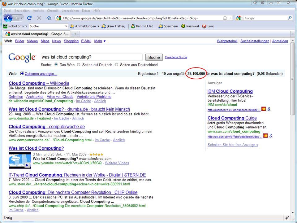 Google App Engine Platform as a Service (PaaS) Eigene Webanwendungen in Java oder Python Storage Database Datastore APIs Services URL Fetch Mail Memcache Image Manipulation