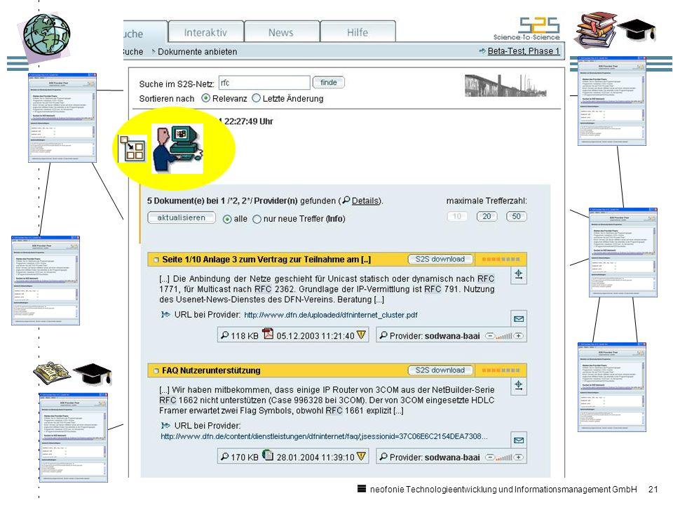 21 neofonie Technologieentwicklung und Informationsmanagement GmbH