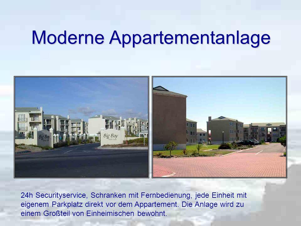 Moderne Appartementanlage 24h Securityservice, Schranken mit Fernbedienung, jede Einheit mit eigenem Parkplatz direkt vor dem Appartement.