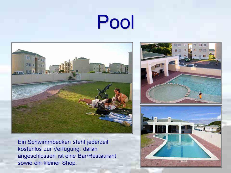 Pool Ein Schwimmbecken steht jederzeit kostenlos zur Verfügung, daran angeschlossen ist eine Bar/Restaurant sowie ein kleiner Shop.