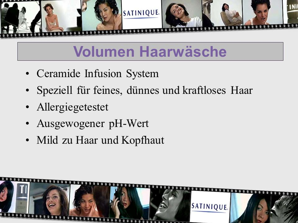 Volumen Haarwäsche Ceramide Infusion System Speziell für feines, dünnes und kraftloses Haar Allergiegetestet Ausgewogener pH-Wert Mild zu Haar und Kop