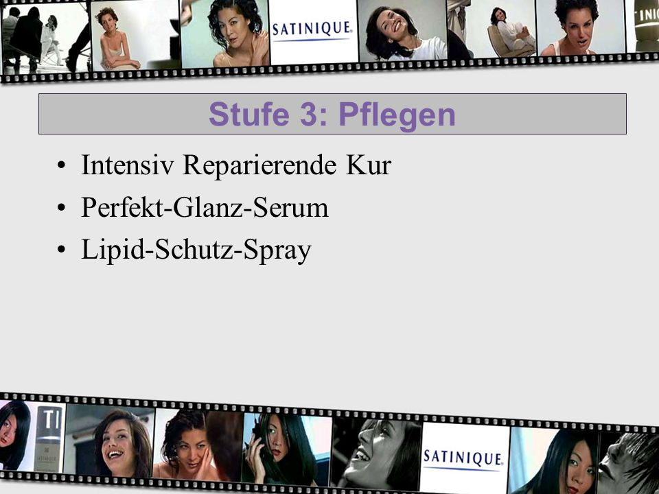 Stufe 3: Pflegen Intensiv Reparierende Kur Perfekt-Glanz-Serum Lipid-Schutz-Spray