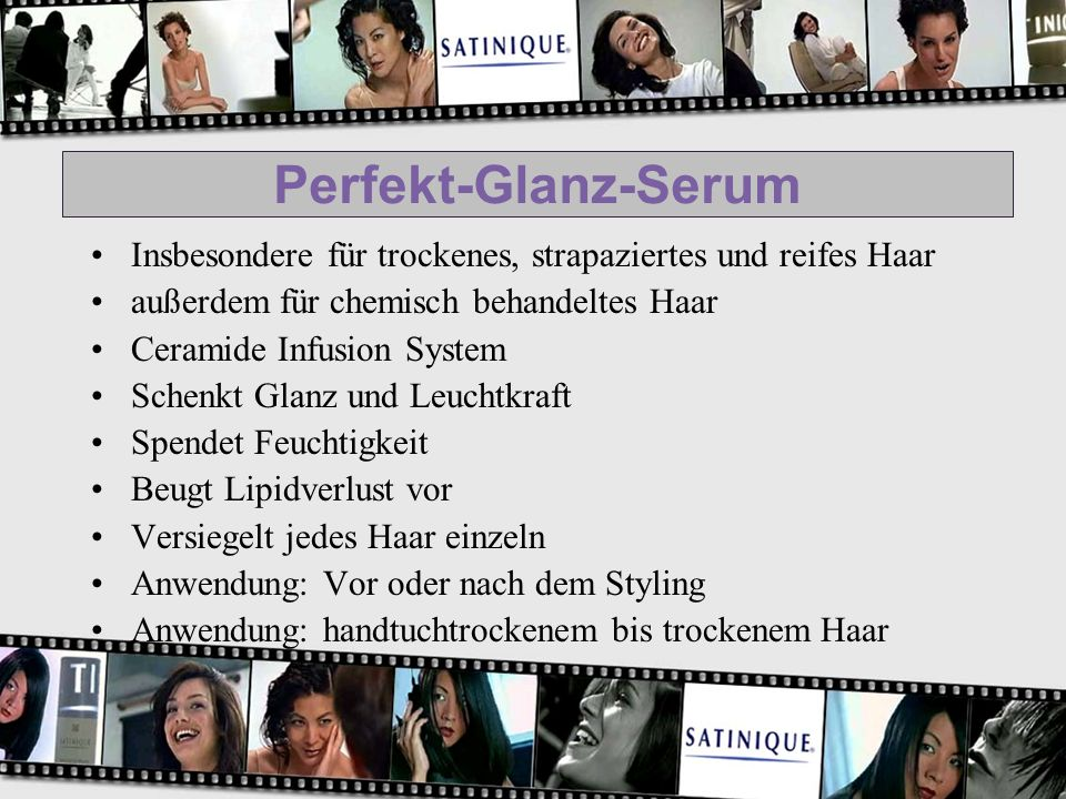 Perfekt-Glanz-Serum Insbesondere für trockenes, strapaziertes und reifes Haar außerdem für chemisch behandeltes Haar Ceramide Infusion System Schenkt