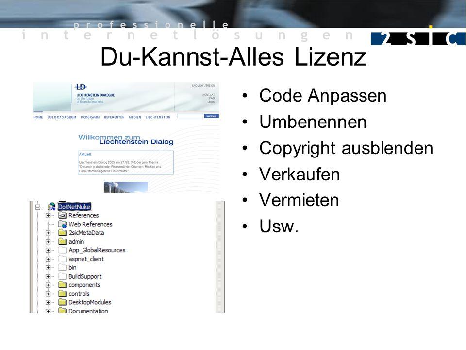 Du-Kannst-Alles Lizenz Code Anpassen Umbenennen Copyright ausblenden Verkaufen Vermieten Usw.