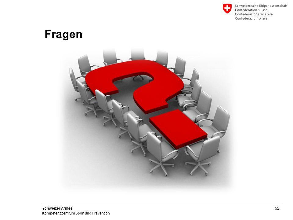 52 Schweizer Armee Kompetenzzentrum Sport und Prävention Fragen