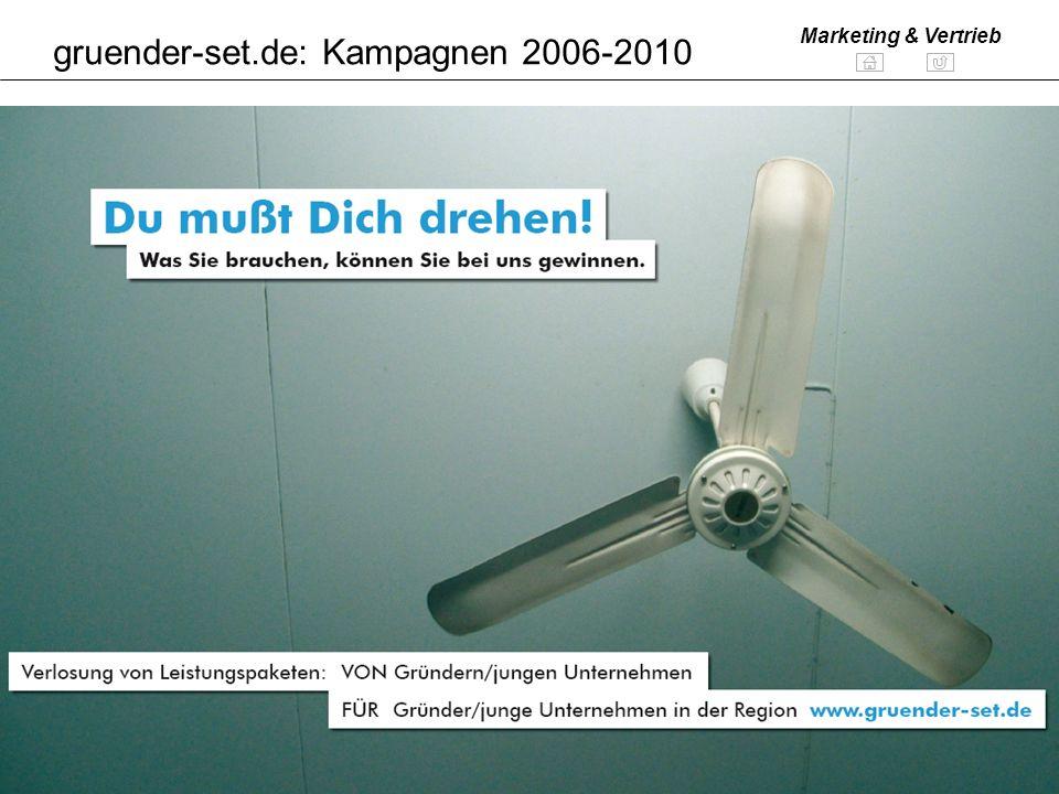 Folie 18 www.bs-consult.de Marketing & Vertrieb gruender-set.de: Kampagnen 2006-2010