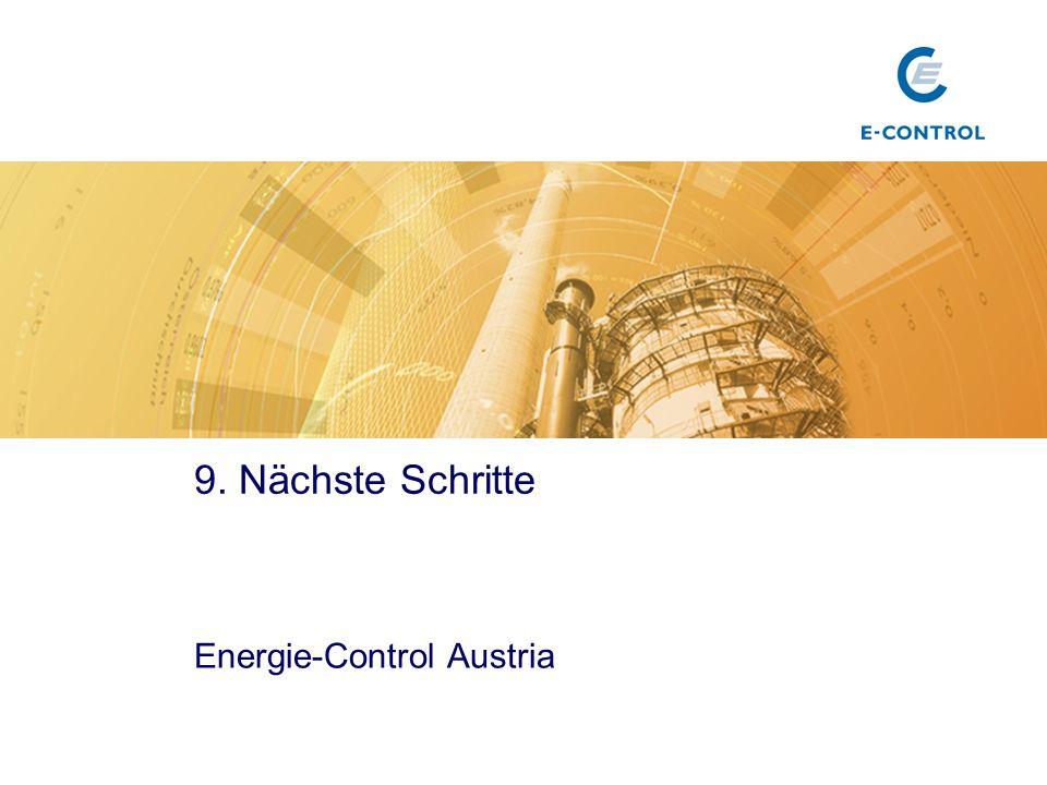 9. Nächste Schritte Energie-Control Austria Titel