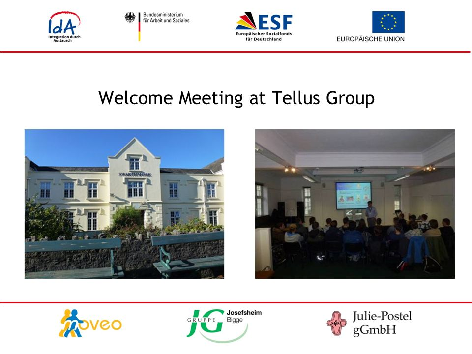 Welcome Meeting at Tellus Group