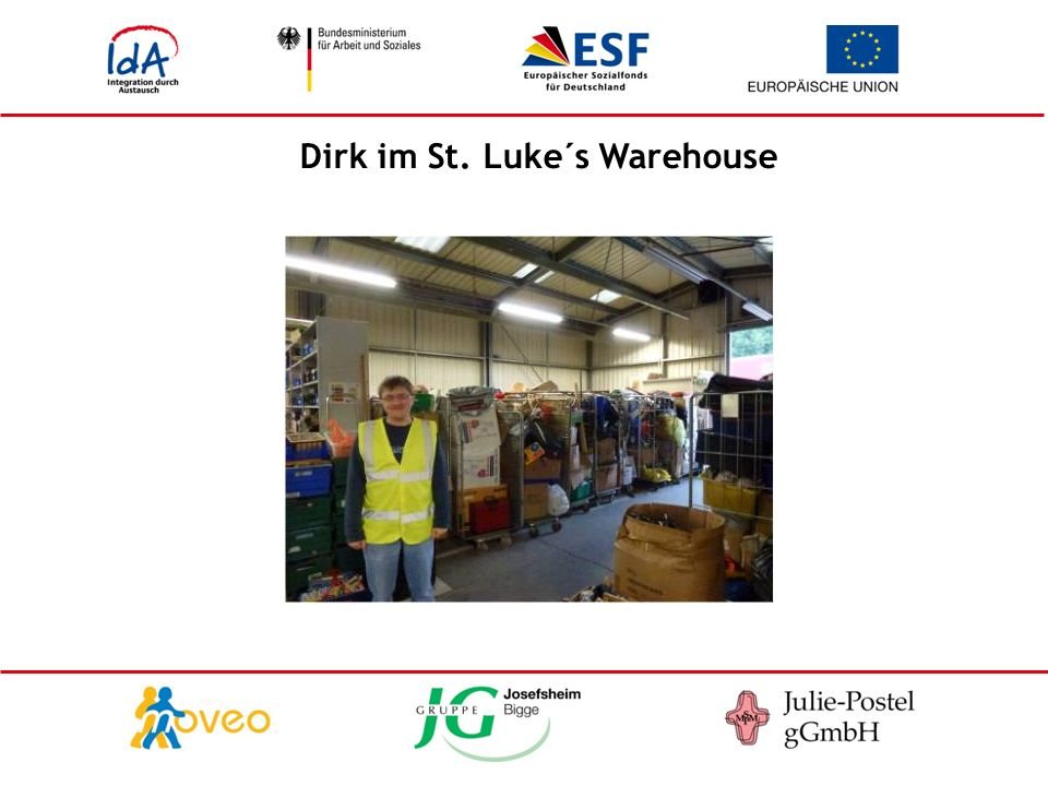 Dirk im St. Luke´s Warehouse