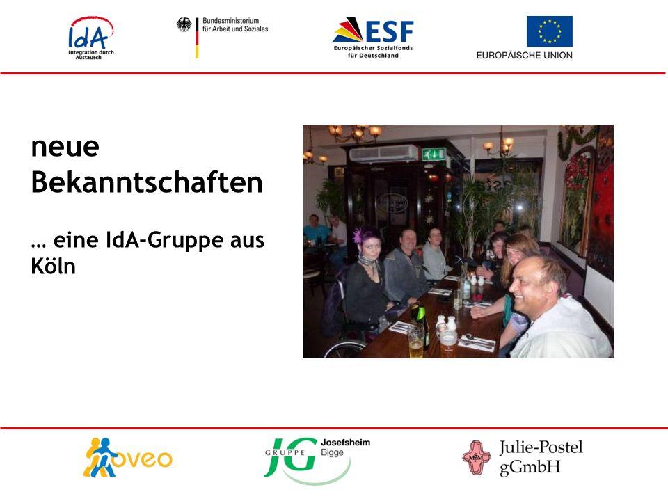 neue Bekanntschaften … eine IdA-Gruppe aus Köln