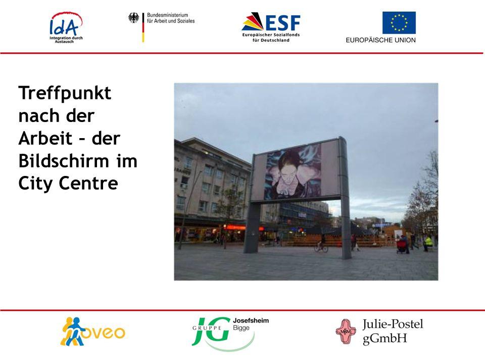 Treffpunkt nach der Arbeit – der Bildschirm im City Centre