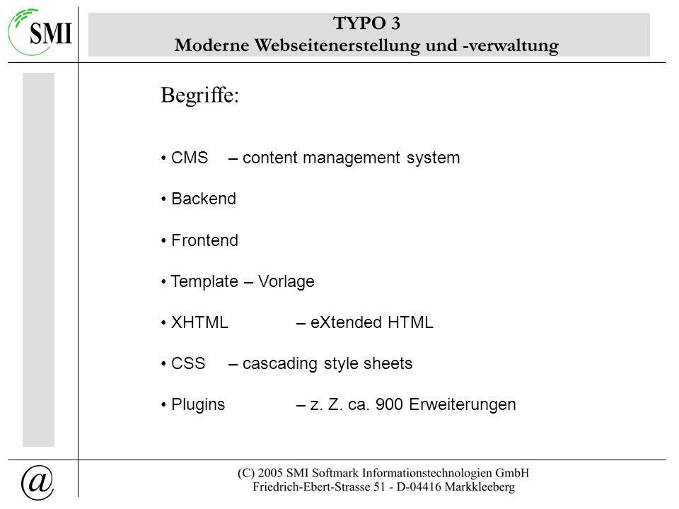 Falko Trojahn SMI Softmark Informationstechnologien GmbH ftrojahn@smi-softmark.de Webseiten mit