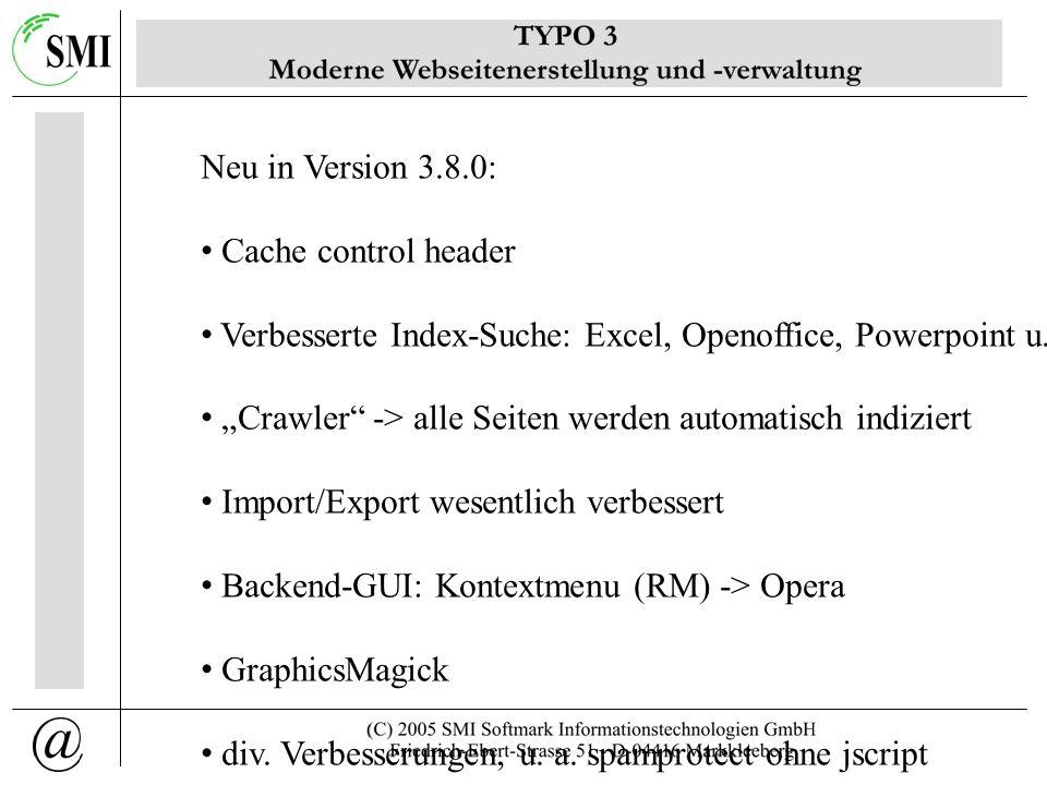 Einsatzbereiche Intranet Internetpräsenz Marktplatz/Shop Extranet individuelle Anpassung -> diverse Plugins