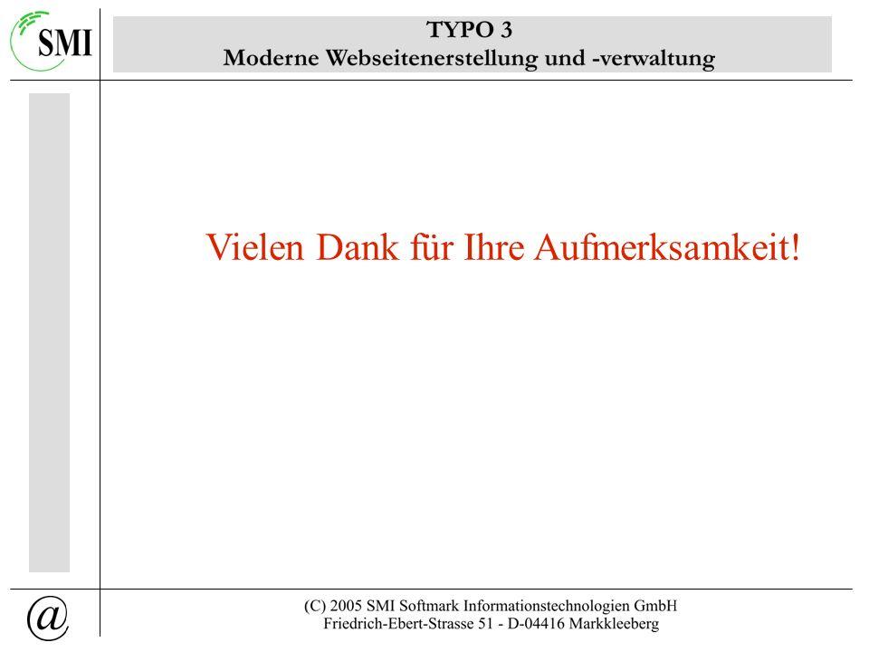 http://130.228.0.33/oneminutesite/oneminutesite.htm Vorführung TYPO3 Version 3.8 mit TemplaVoila + CSS Styled Content