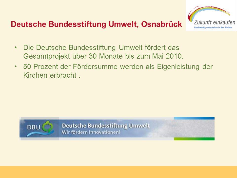 Copyright: Zukunft-Einkaufen 2006 Deutsche Bundesstiftung Umwelt, Osnabrück Die Deutsche Bundesstiftung Umwelt fördert das Gesamtprojekt über 30 Monat