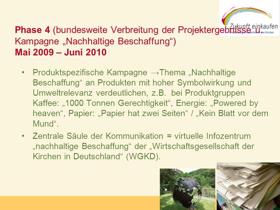 Copyright: Zukunft-Einkaufen 2006 Produktspezifische Kampagne Thema Nachhaltige Beschaffung an Produkten mit hoher Symbolwirkung und Umweltrelevanz ve
