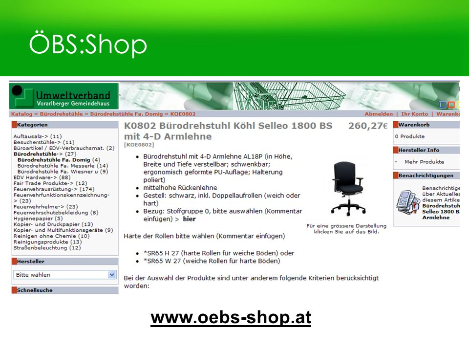 ÖBS:Shop www.oebs-shop.at