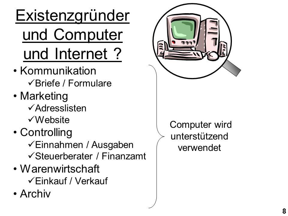 8 Existenzgründer und Computer und Internet .