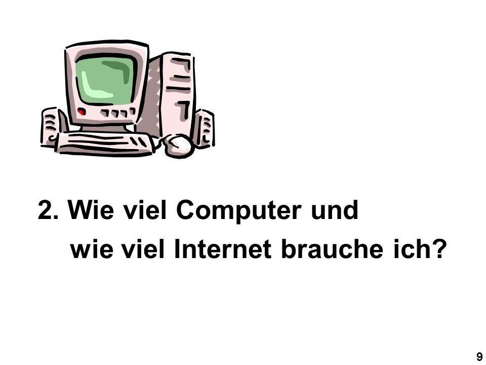 9 2. Wie viel Computer und wie viel Internet brauche ich