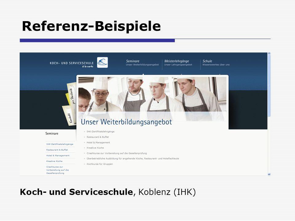 Referenz-Beispiele Koch- und Serviceschule, Koblenz (IHK)