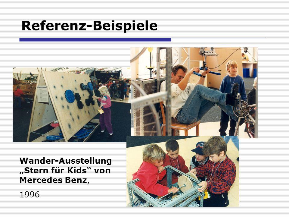 Referenz-Beispiele Wander-Ausstellung Stern für Kids von Mercedes Benz, 1996