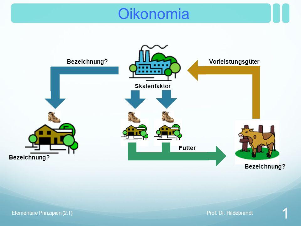 Oikonomia Skalenfaktor Prof. Dr. Hildebrandt 1 Elementare Prinzipien (2.1) Bezeichnung.