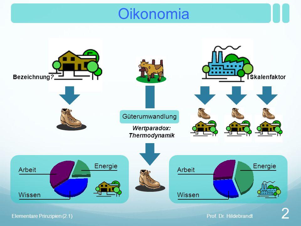 Skalenfaktor Bezeichnung. Oikonomia Prof. Dr.