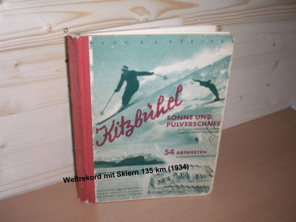 Weltrekord mit Skiern 135 km (1934)