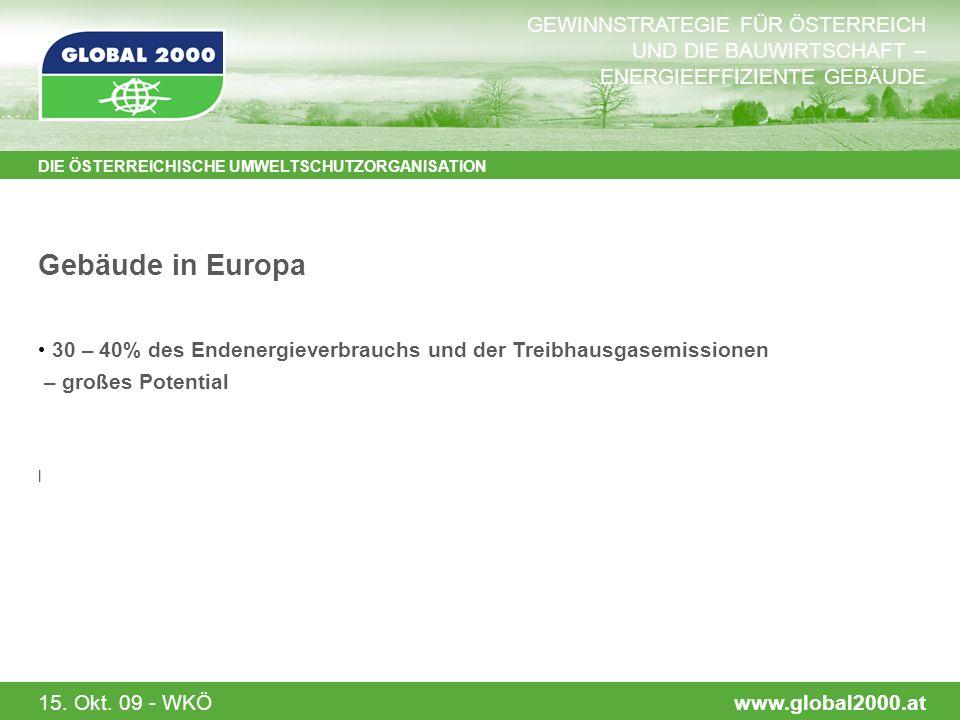 15.Okt. 09 - WKÖ Zusammenfassung der Rahmenbedingungen Dramatische Veränderungen bzgl.