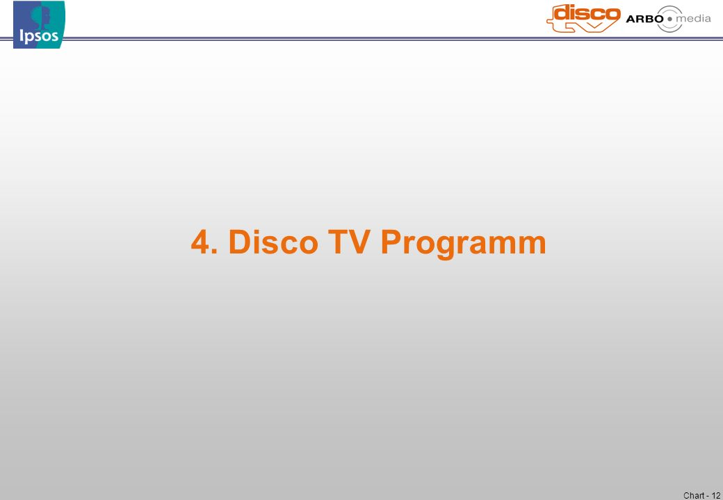 Chart - 12 4. Disco TV Programm