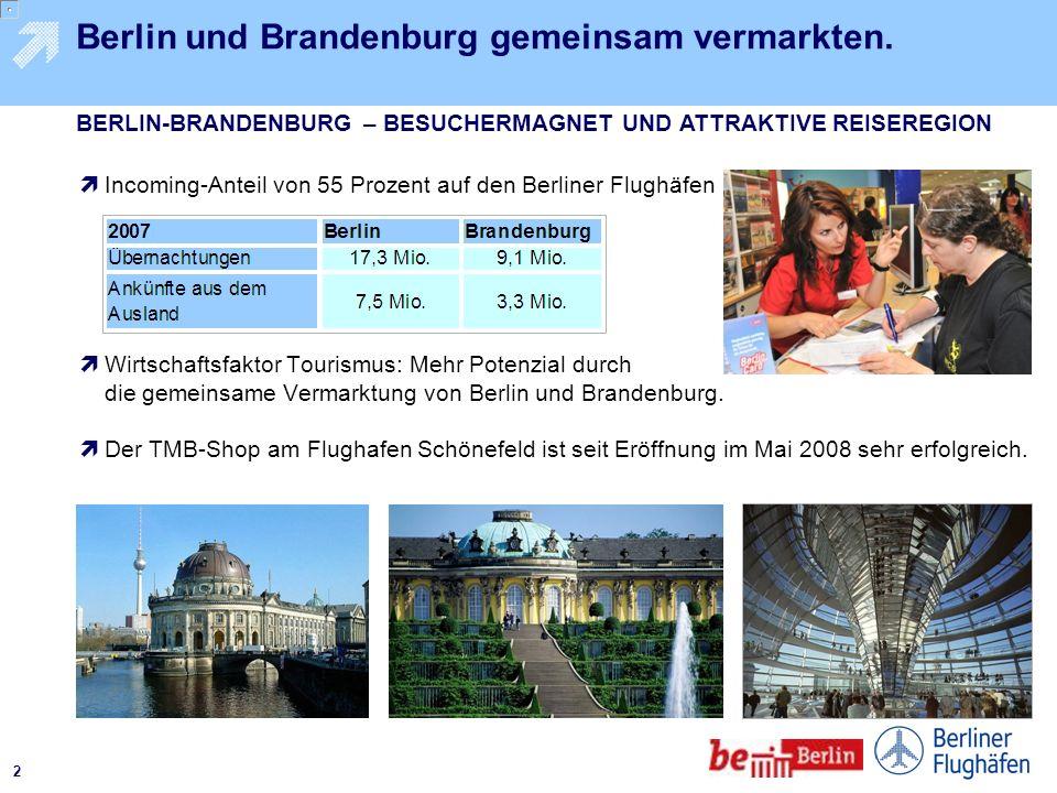 1 Nur wer gut erreichbar ist, profitiert vom Tourismus. Berliner Flughäfen haben sich in der ersten Reihe der deutschen Verkehrsflughäfen etabliert. A