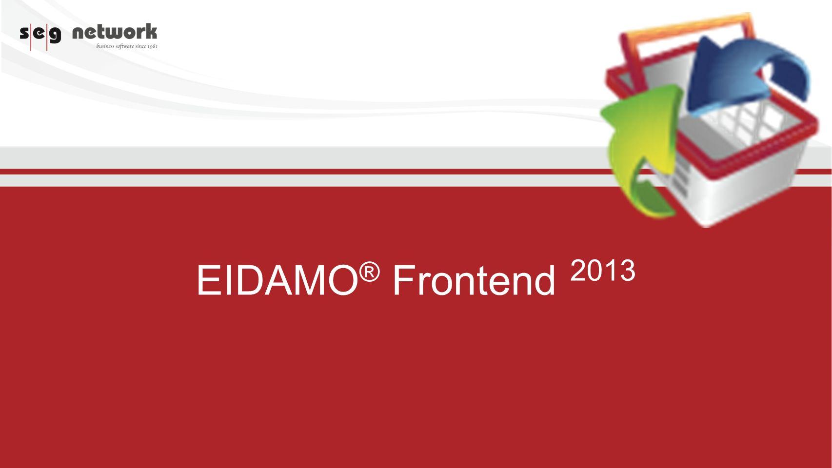 EIDAMO ® Frontend 2013