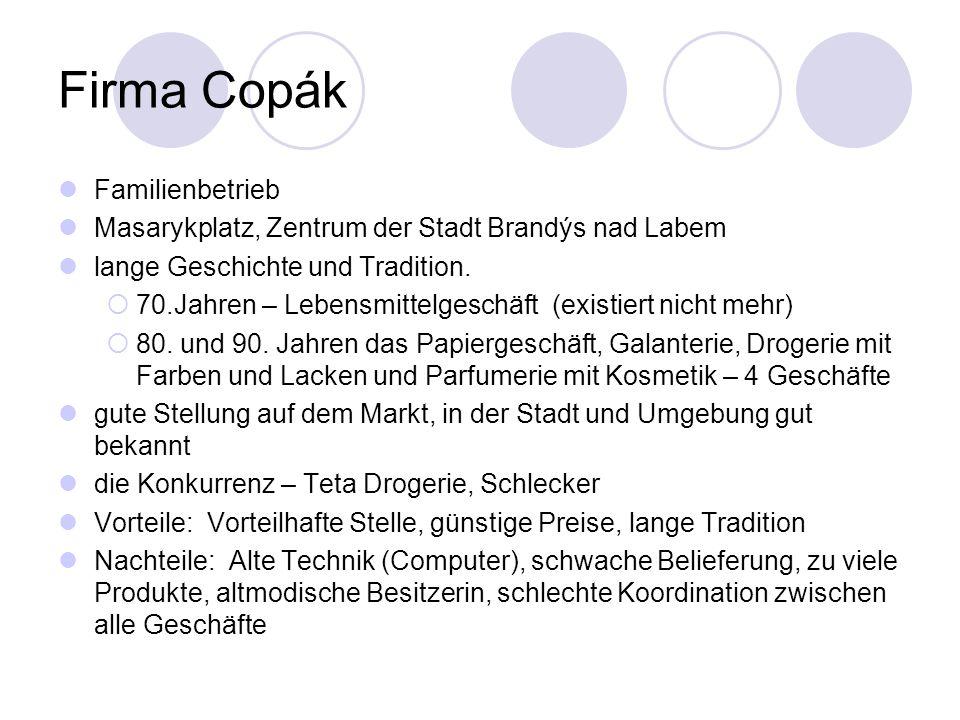 Firma Copák Familienbetrieb Masarykplatz, Zentrum der Stadt Brandýs nad Labem lange Geschichte und Tradition.