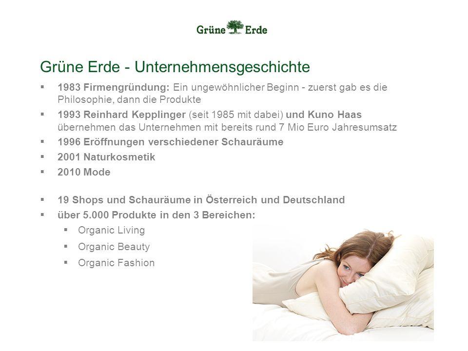 Grüne Erde - Unternehmensgeschichte 1983 Firmengründung: Ein ungewöhnlicher Beginn - zuerst gab es die Philosophie, dann die Produkte 1993 Reinhard Ke