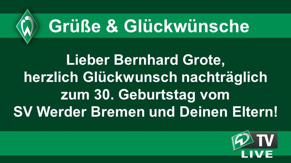 Lieber Bernhard Grote, herzlich Glückwunsch nachträglich zum 30.