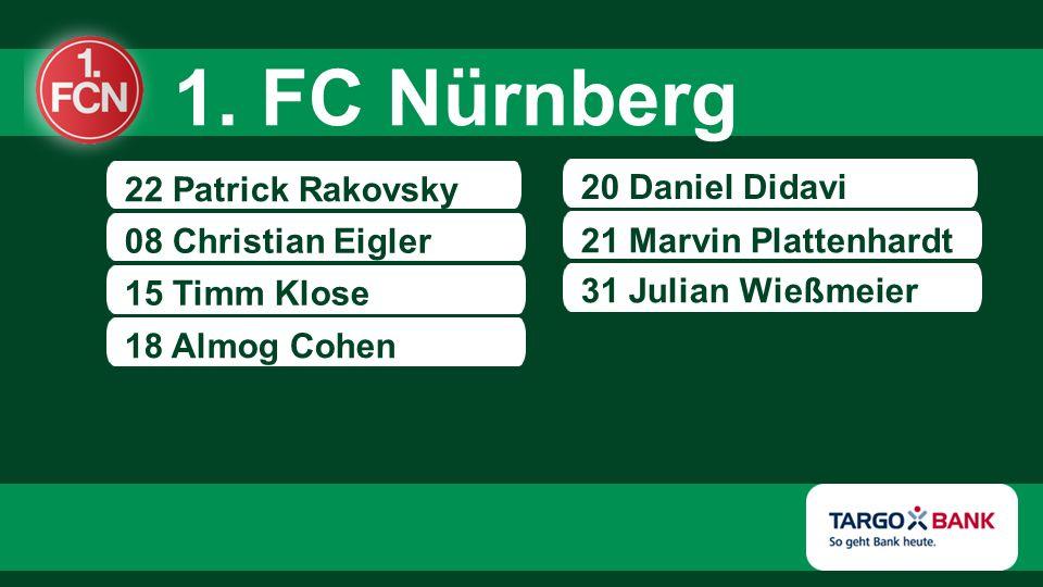 22 Patrick Rakovsky 08 Christian Eigler 15 Timm Klose 20 Daniel Didavi 21 Marvin Plattenhardt 18 Almog Cohen 31 Julian Wießmeier 1.